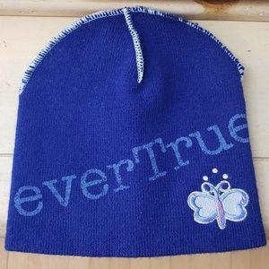 """EverGirl """"everTrue"""" blue butterfly beanie"""